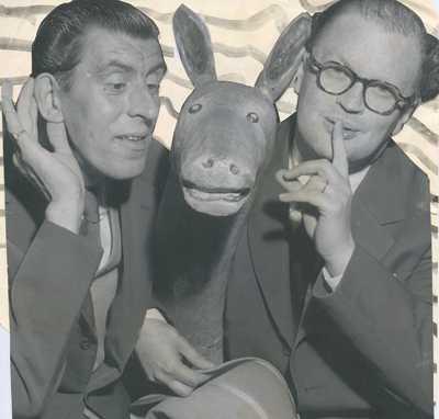 Povel Ramel låg bakom många av de roligheter och karaktärer som Martin Ljung gjorde till klassiker.