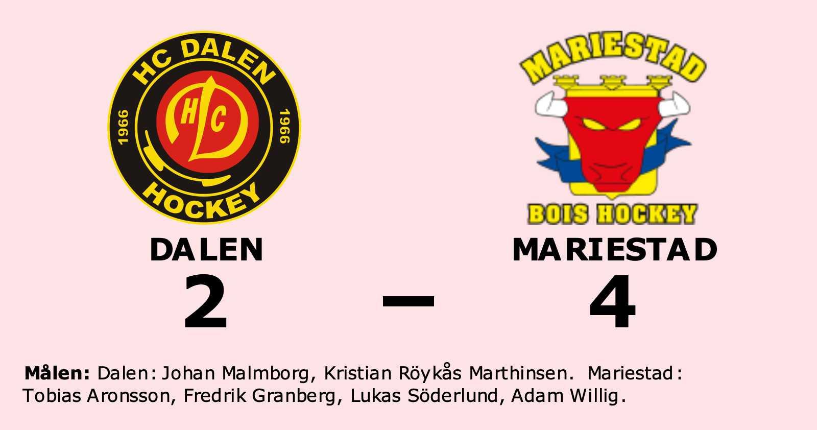 Mariestad vann tidiga seriefinalen mot Dalen