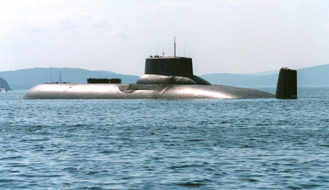 Rysk så kallad Typhoon-ubåt.