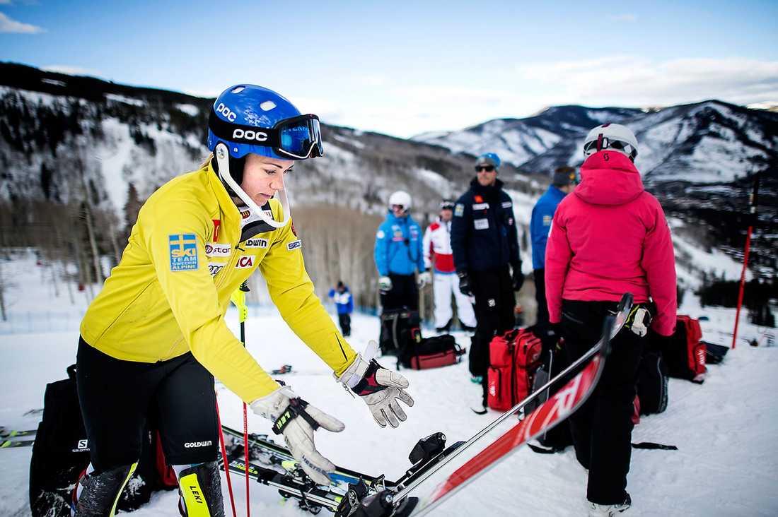 Frida Hansdotter har haft en fantastisk slalomsäsong. I kväll ska hon slåss om VM-guldet.