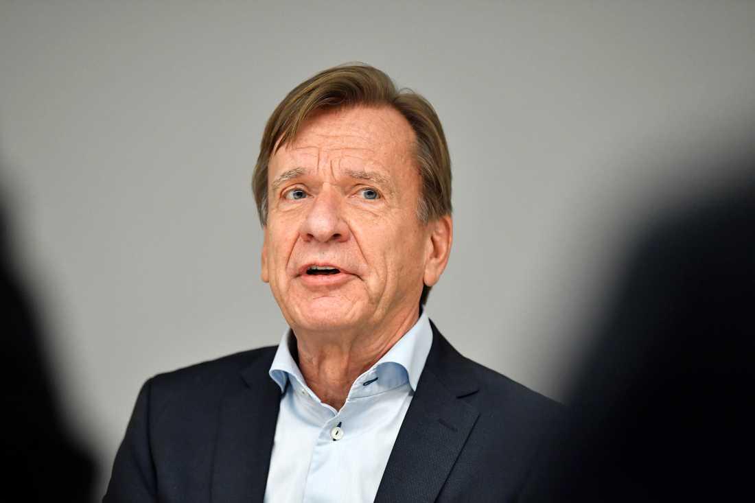 Volvo Cars VD Håkan Samuelsson säger att den planerade hamnstrejken kan få Volvo att stanna. Arkivbild.