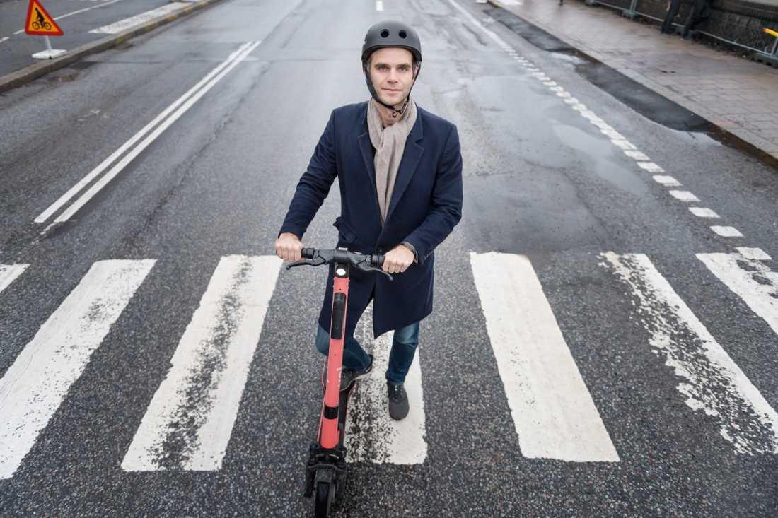 Fredrik Hjelm, vd för elsparkcykelföretaget Voi.