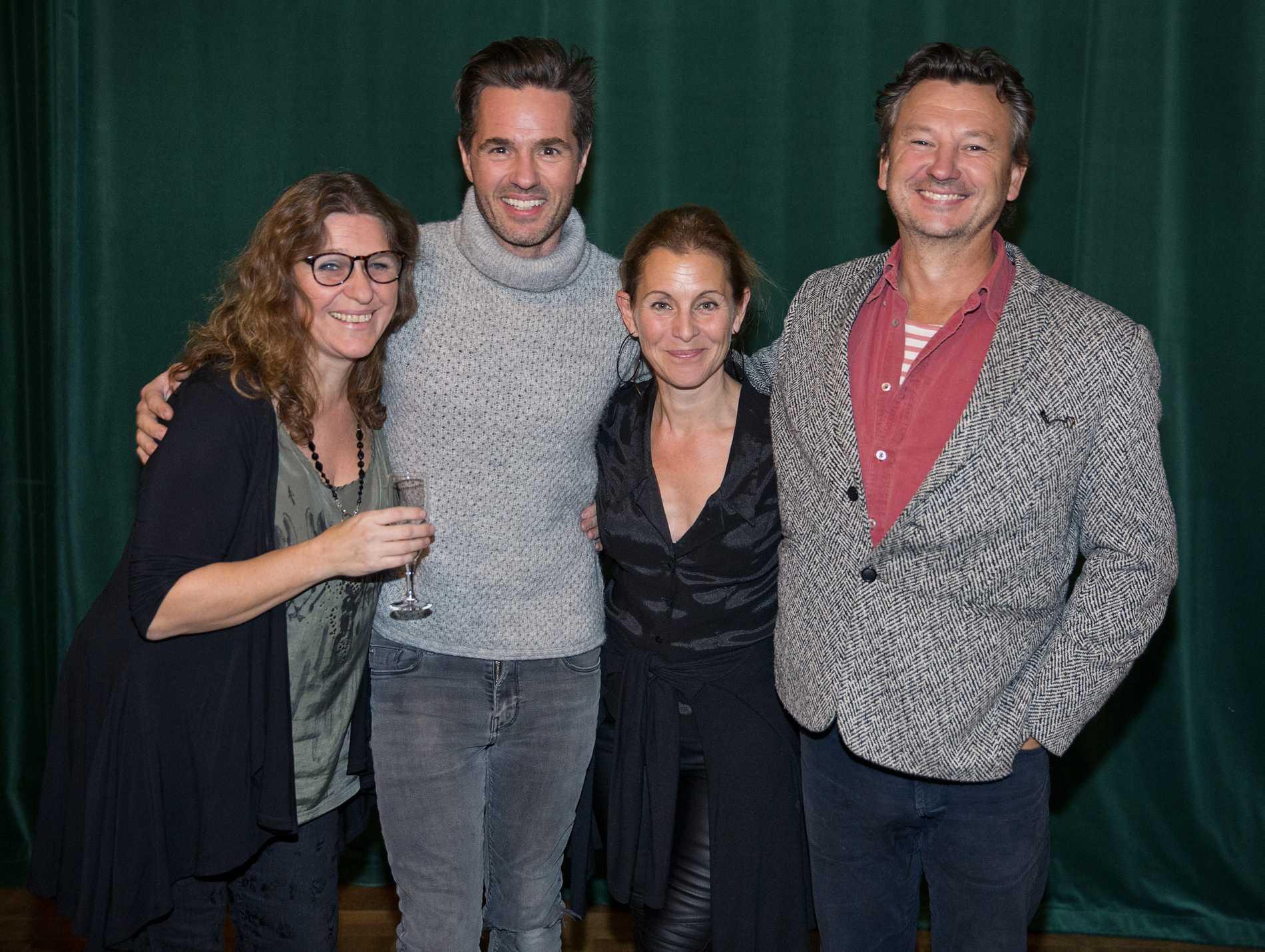 Åsa Bergh, Peter Jöback, Helen Sjöholm och Anders Ekborg under musikalens 20-årsjubileum på Cirkus 2015.