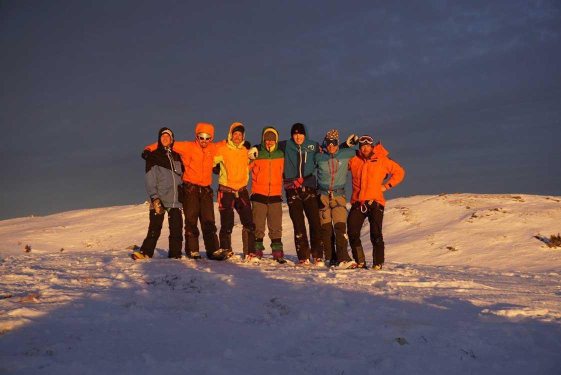 Kompisgänget från södra Schweiz var i Sverige för att fira nyår, se norrsken och njuta av naturen.