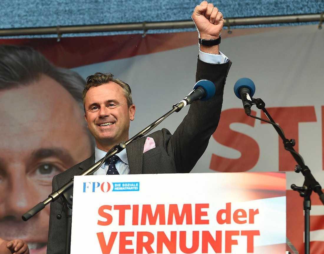 Norbert Hofer från det högerpopulistiska partiet FPÖ.