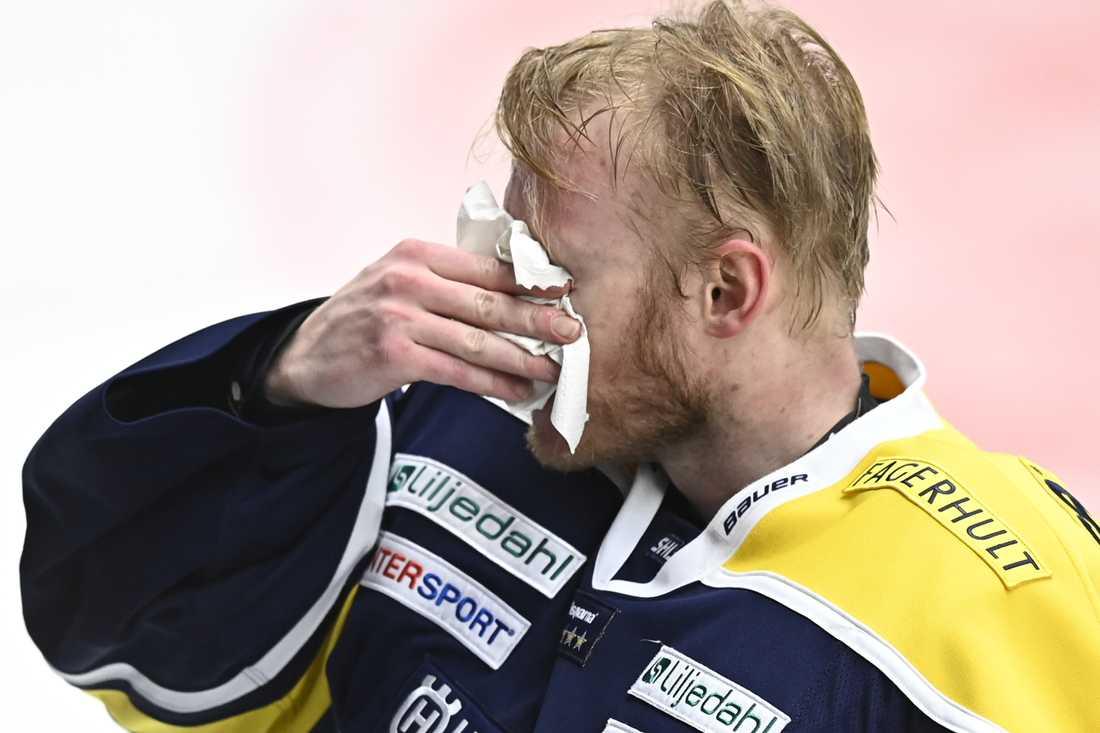 HV:s målvakt Jonas Gunnarsson höll nollan i jumbomötet.