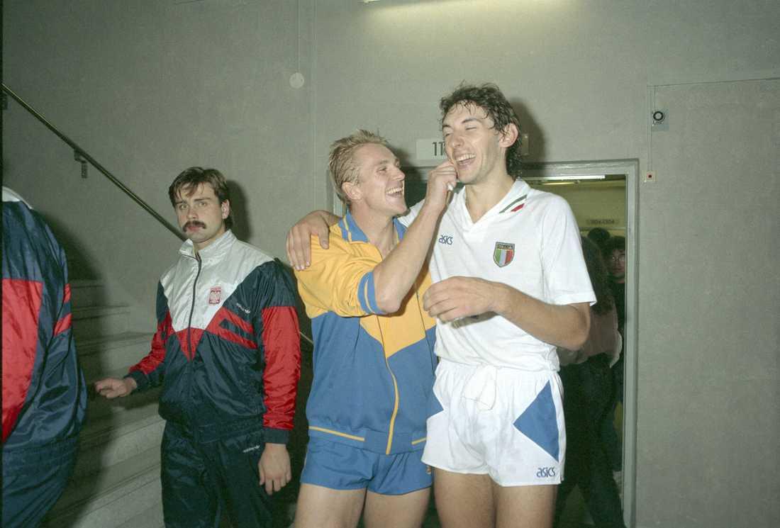 Bengt Gustafsson, Sverige och Andrea Zorsi, Italien
