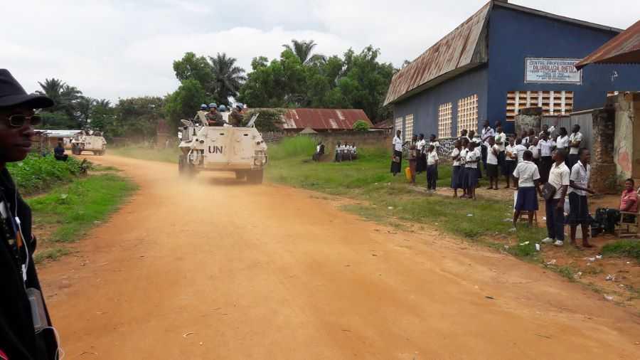 FN-soldater i Kongo-Kinshasa.