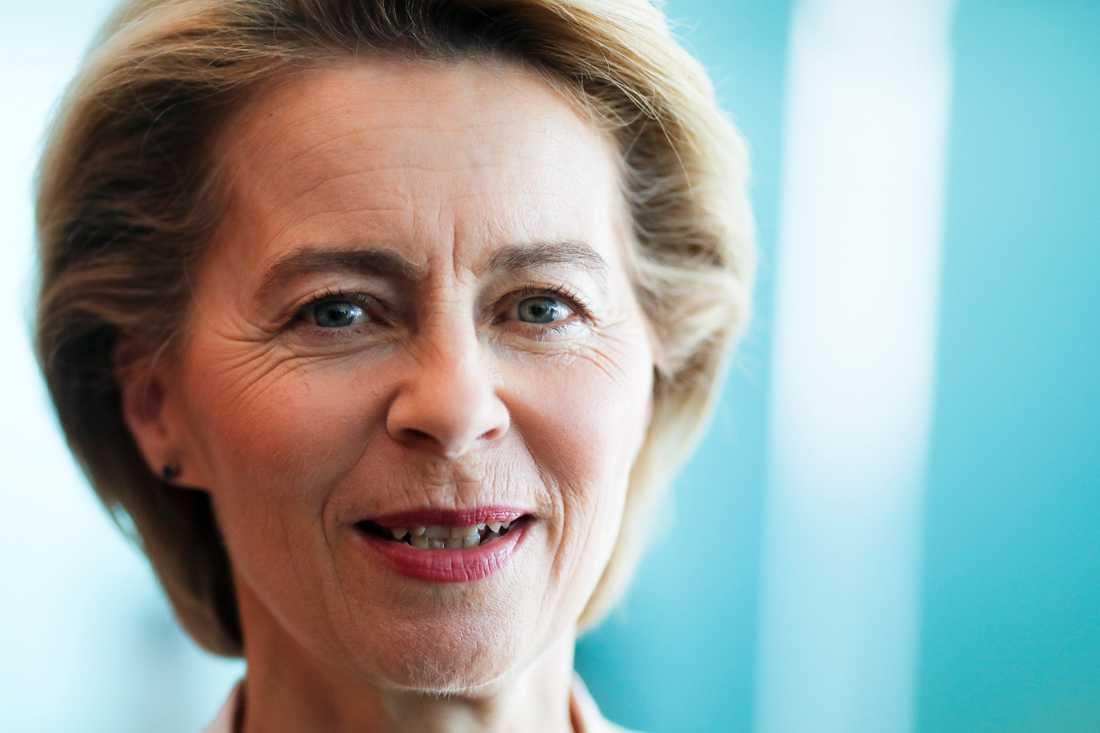 Tyska Ursula von der Leyen är tilltänkt som ny ordförande i EU-kommissionen. Arkivbild.