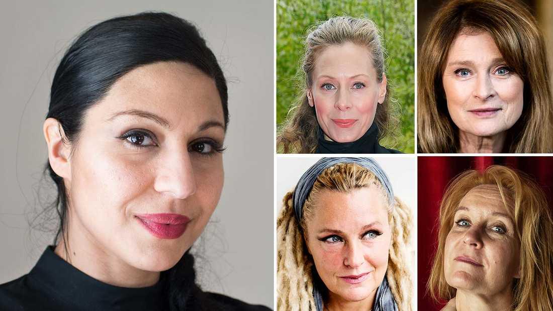 Bahar Pars, Eva Röse, Lena Endre, Regina Lund och Maria Lunqvist är några av de 456 skådespelarna som skrivit under uppropet.