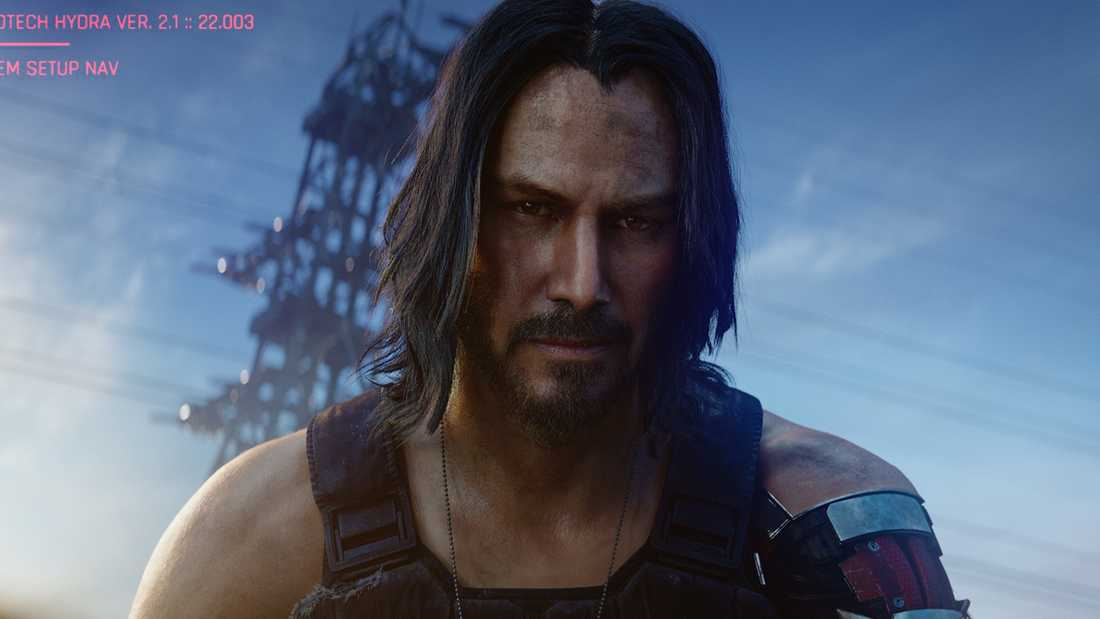 "Keanu Reeves spelar rollen som Johnny Silverhand i ""Cyberpunk 2077"". Pressbild."