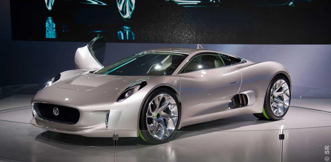 Jaguar C-X75 Jaguars turbin-hybridbil som skulle ta vid efter sportiga XJ220.