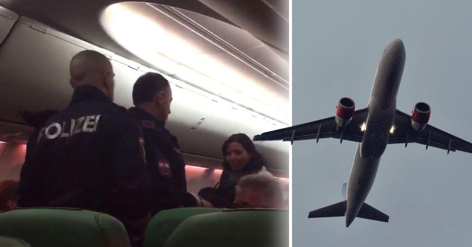 Plan nödlandade – när en passagerare vägrade sluta prutta