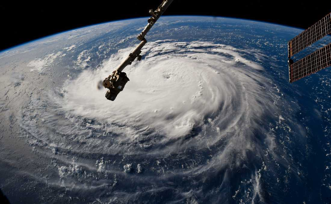 Florence fotograferad av ISS.