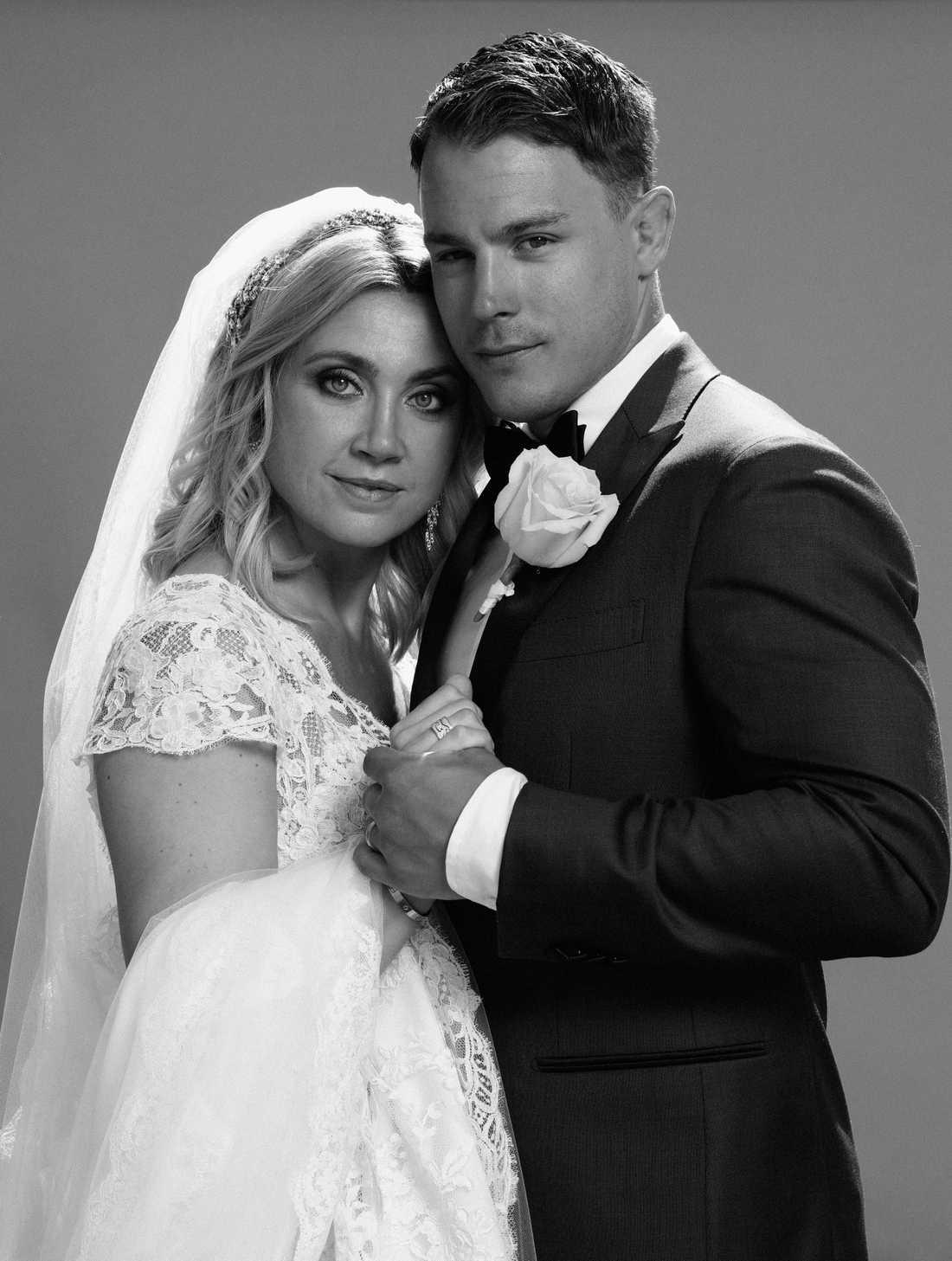 Camilla Läckberg och Simon Sköld när de gifte sig.