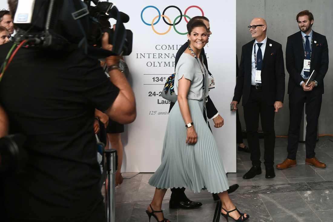 Victoria i Lausanne när avgörandet om vinter-OS ägde rum den 24 juni.