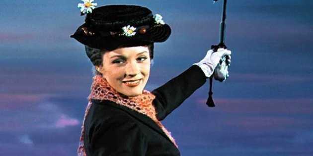 """Julie Andrews i """"Mary Poppins"""" (1964)."""