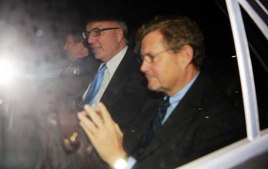 Lämnar Danmark Fritz H. Schur och Jacob Wallenberg.