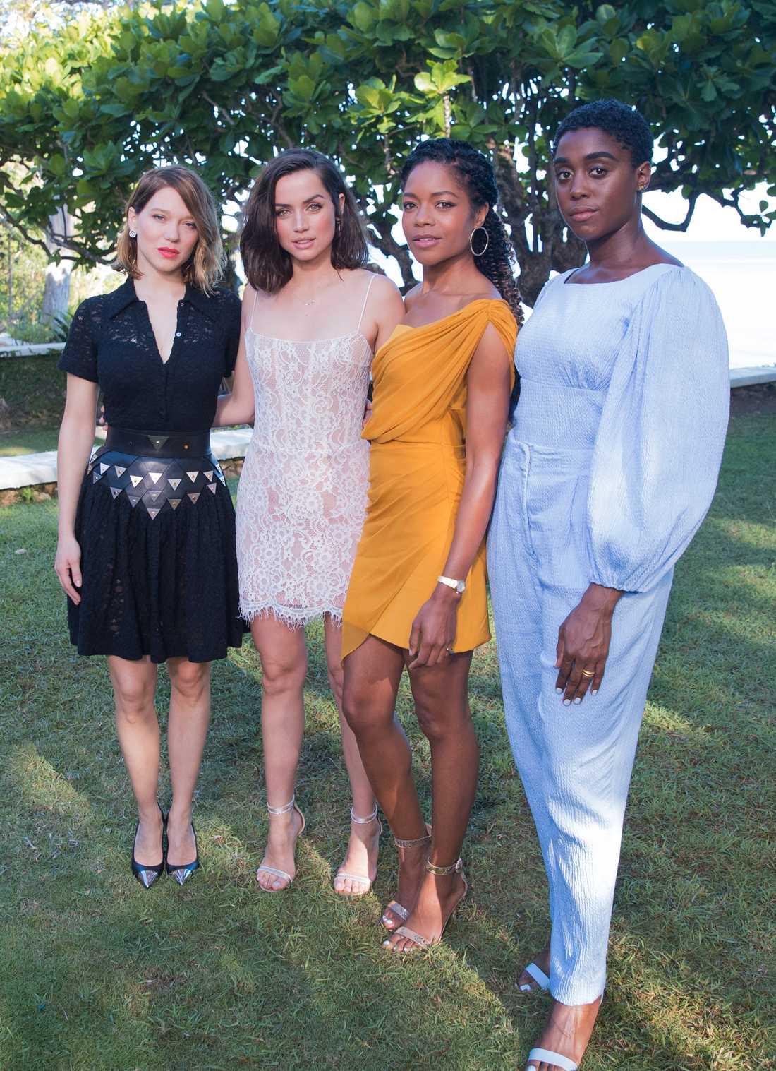 Lashana Lynch, längst till höger ryktas bli den nya 007.