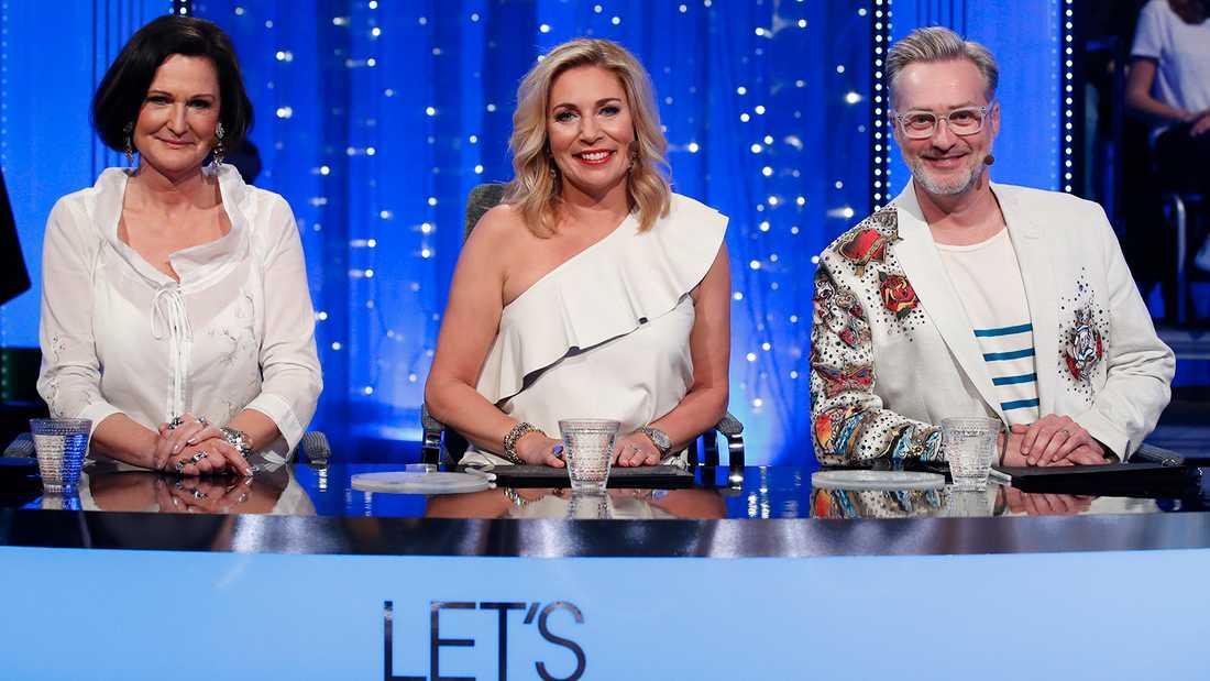 """""""Let's dance""""-juryn: Cecilia Lazar, Ann Wilson och Tony Irving."""
