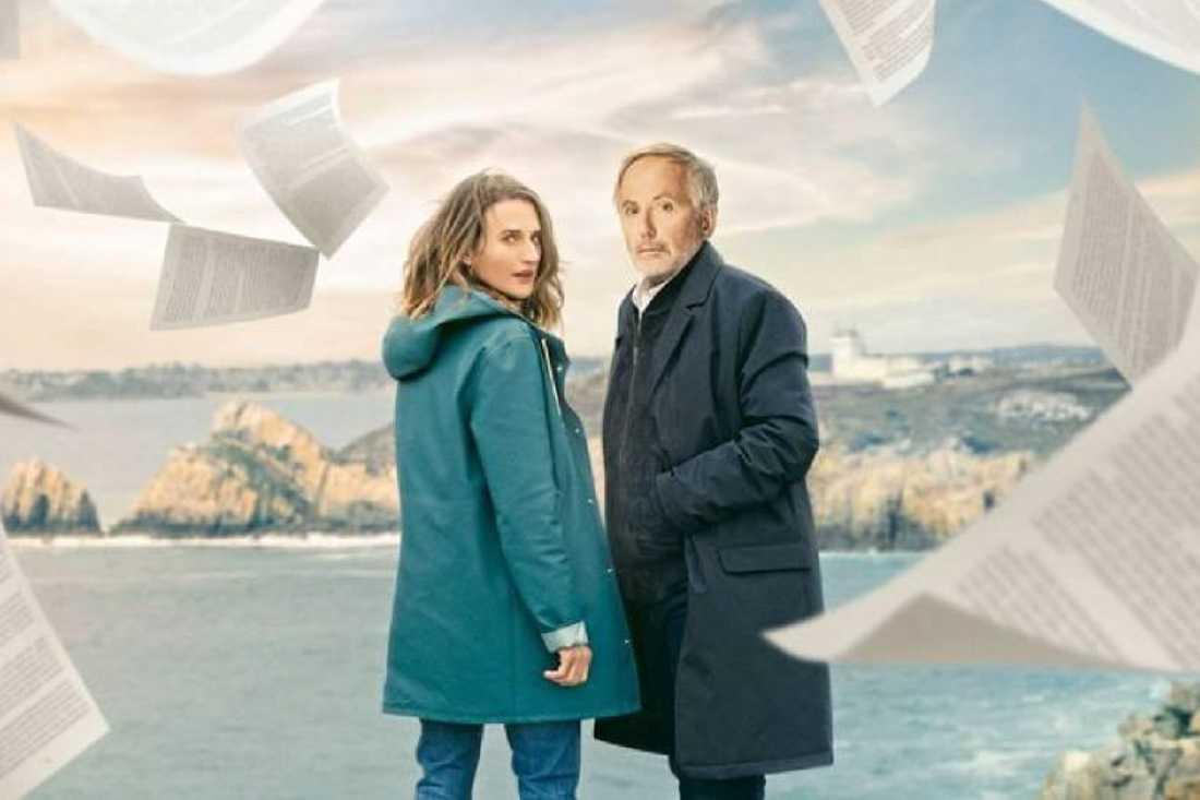 "Camille Cottin och Fabrice Luchini i ""Mysteriet Henri Pick""."