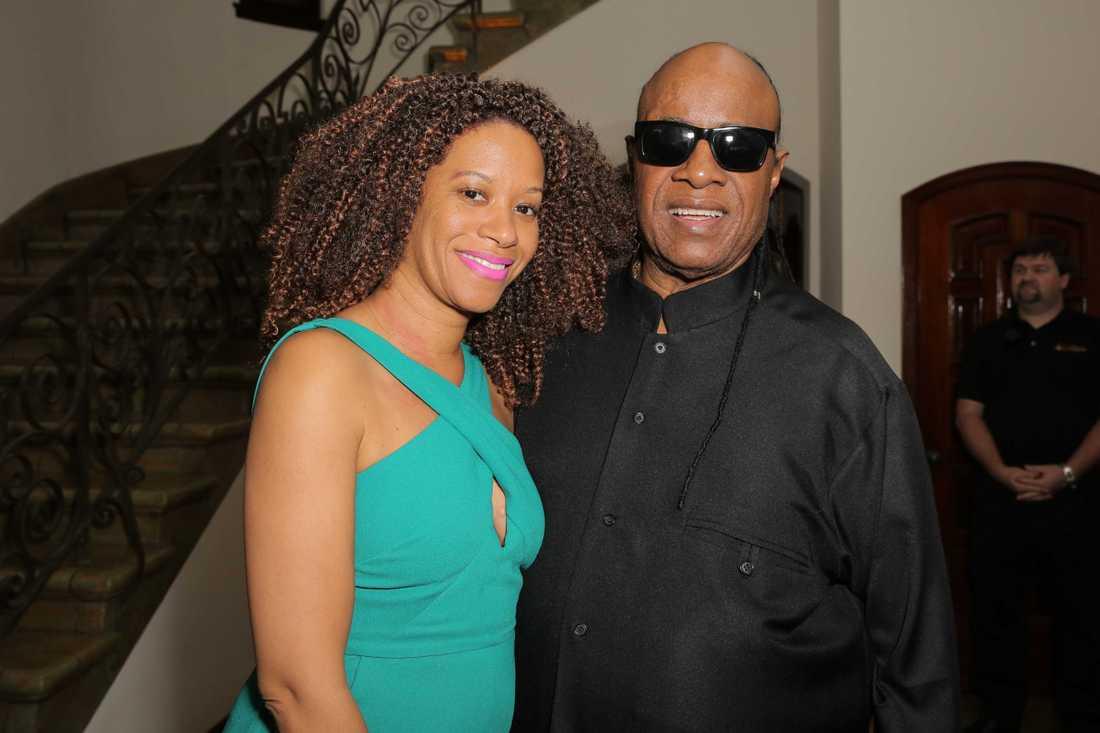 Tomeeka Bracy och Stevie Wonder