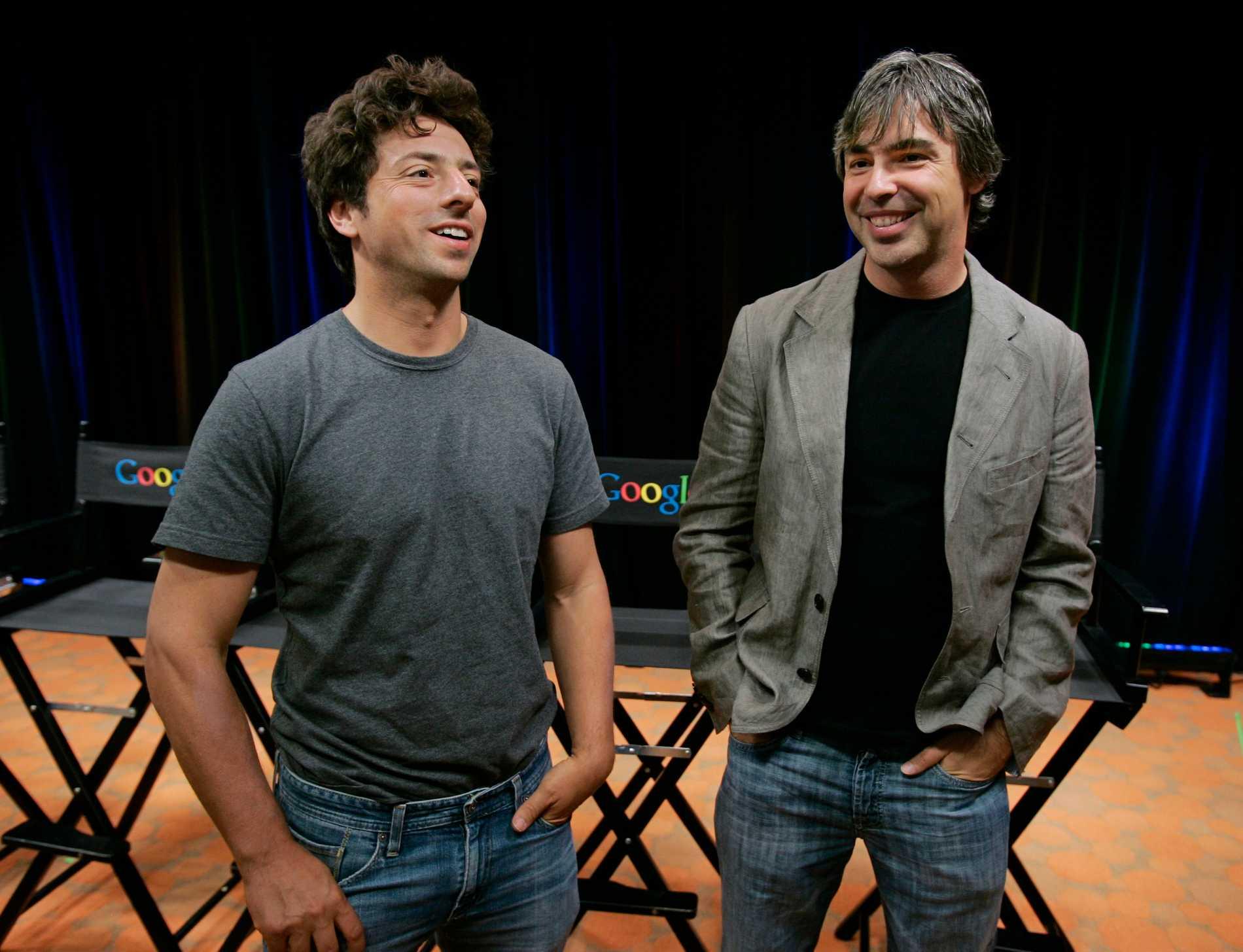 Sergey Brin och Larry Page.