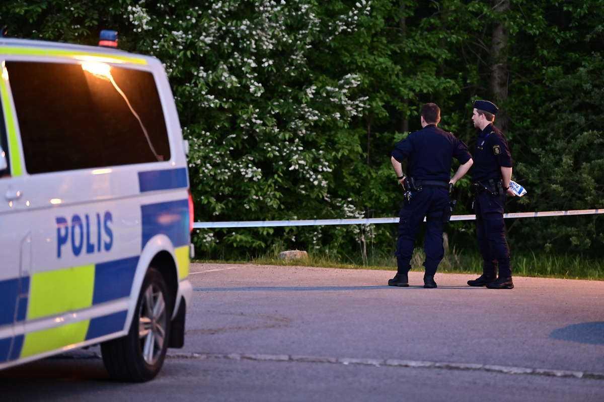 Polisen på platsen i Salem.