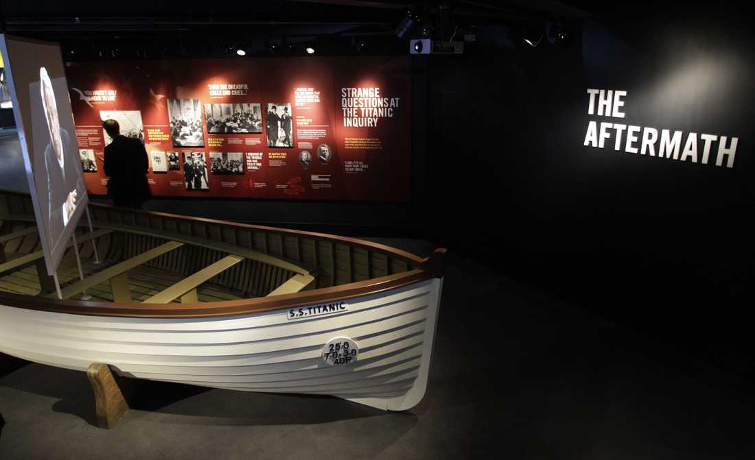 En replika av en livbåt finns också att beskåda på Titanic Belfast.