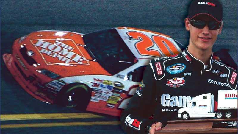 YNGST NÅGONSIN 18-årige Joey Logano har tagit över superstjärnan Tony Stewarts bil.