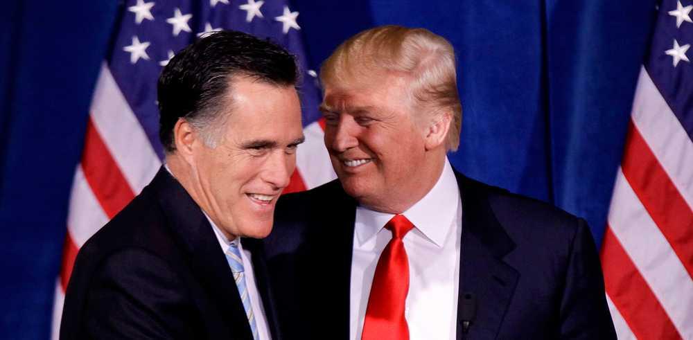 Mitt Romney och Donald Trump innan den ödesdigra valnatten...