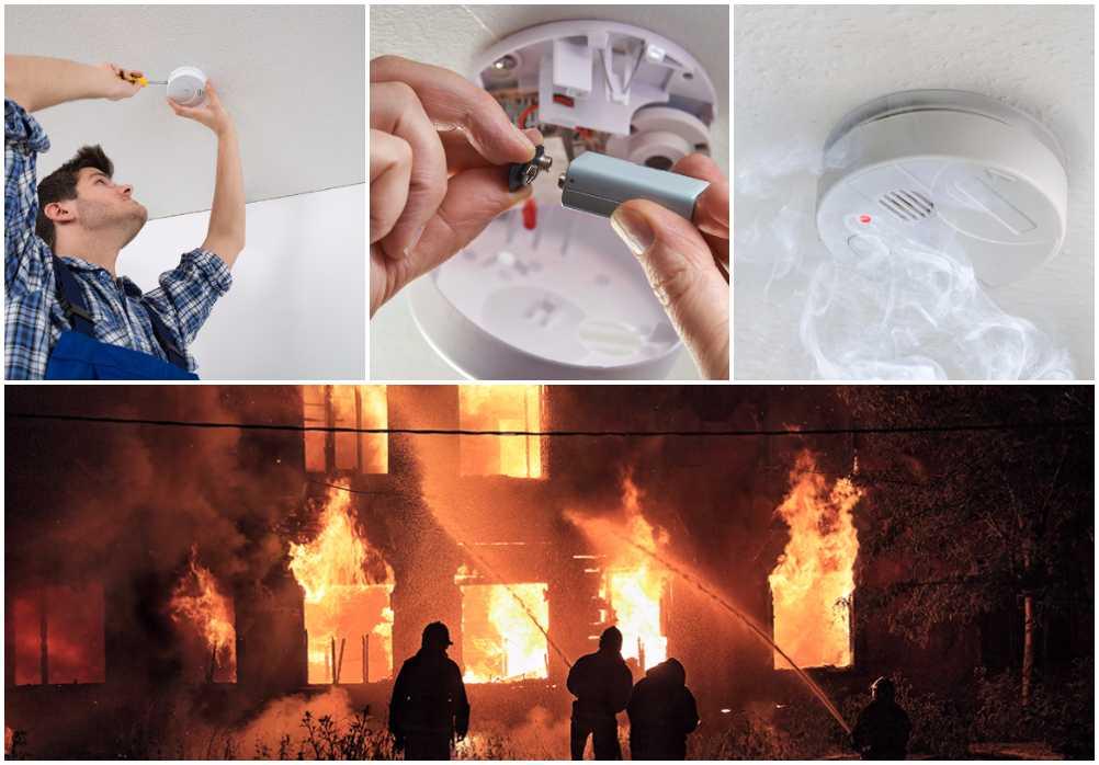 Kontrollera din brandvarnare så den inte brinner inne.