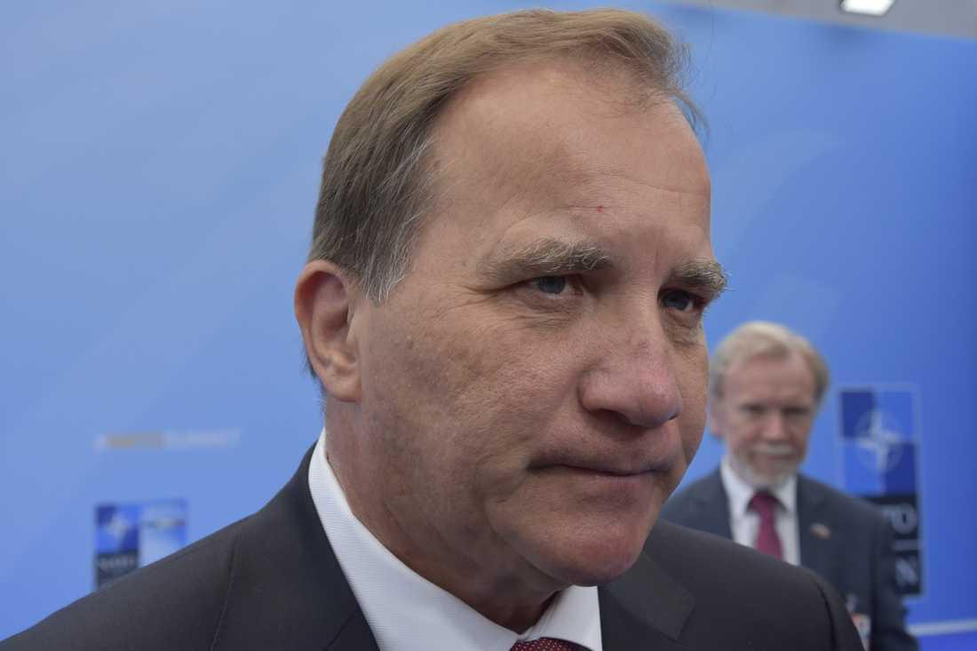 Statsminister Stefan Löfven efter Nato-toppmötet.