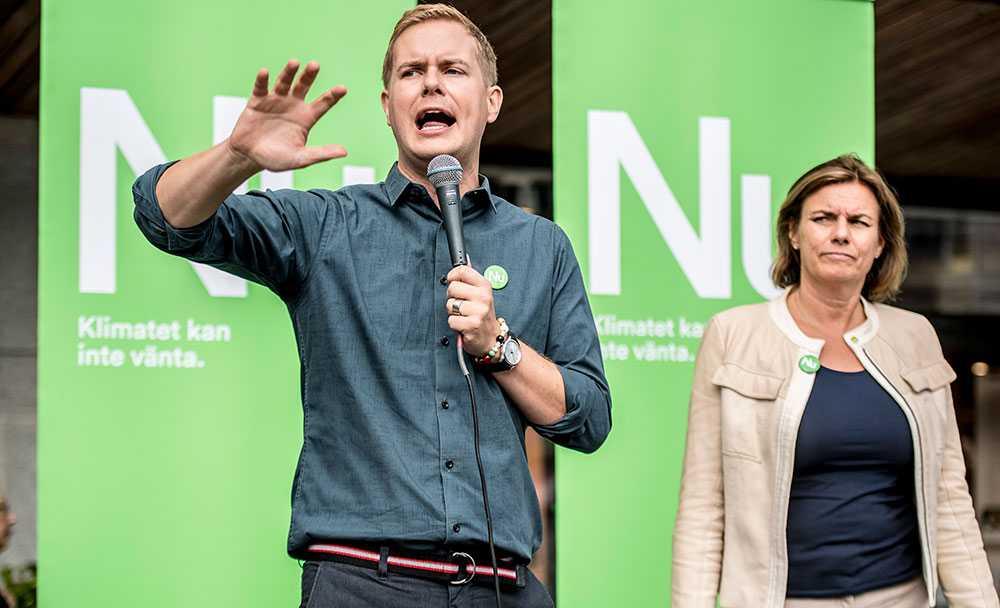 Gustav Fridolin och Isabella Lövin, språkrör för Miljöpartiet.