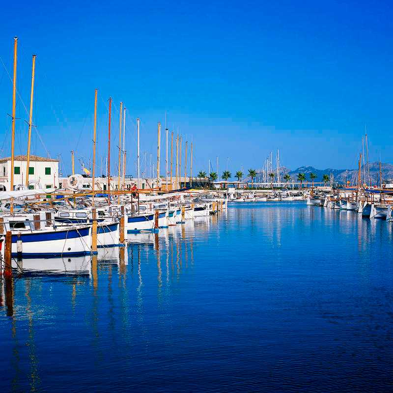 Fiskebyn Santa Ponsa på Mallorca.