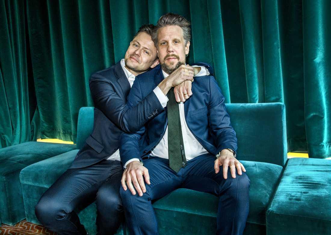 Parhästarna Filip Hammar och Fredrik Wikingsson