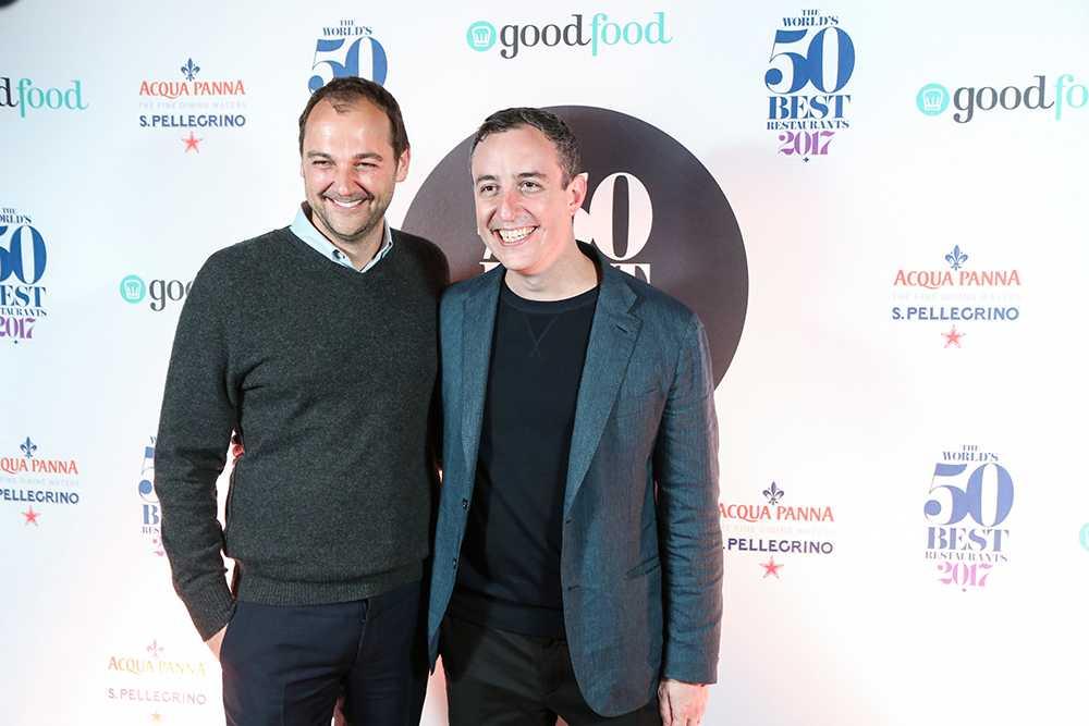 Daniel Humm och Will Guardia tog det prestigefyllda priset. De driver sedan elva år världens bästa restaurang, Eleven Madison Park i New York.