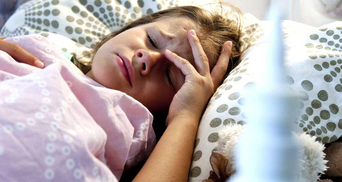Barn i förskoleåldern kan bli sjuka varannan månad.