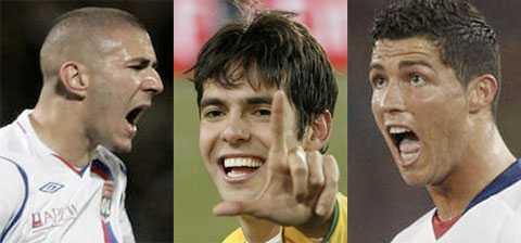 Benzema, Kaká och Ronaldo.