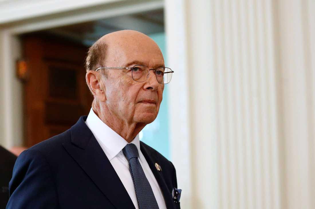 USA:s handelsminister Wilbur Ross. Arkivbild.