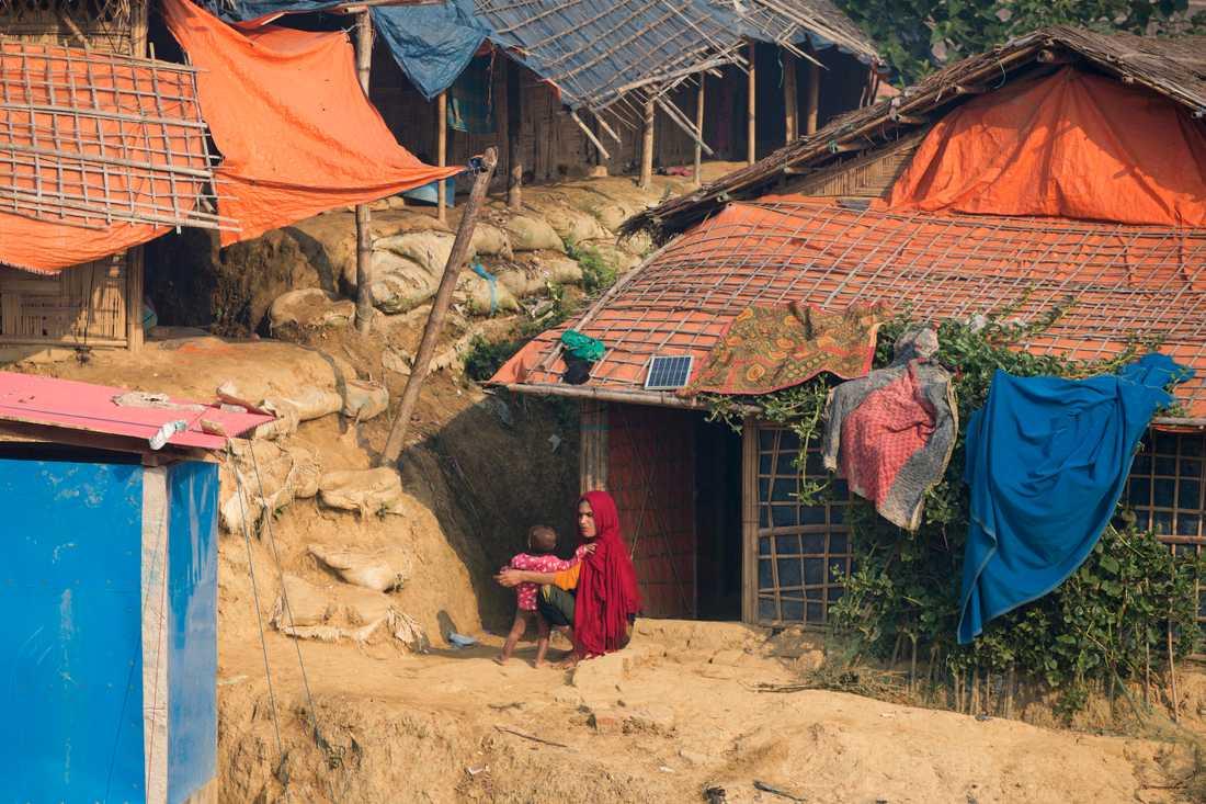 Ett av de läger i trakten av Cox's Bazar i östra Bangladesh där rohingyer som flytt från Myanmar bor. Arkivbild.