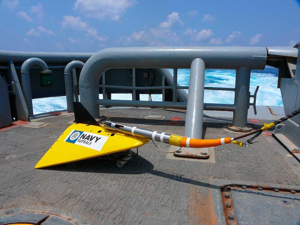 Avancerad amerikansk undervattensmikrofon sattes in i sökandet efter planet