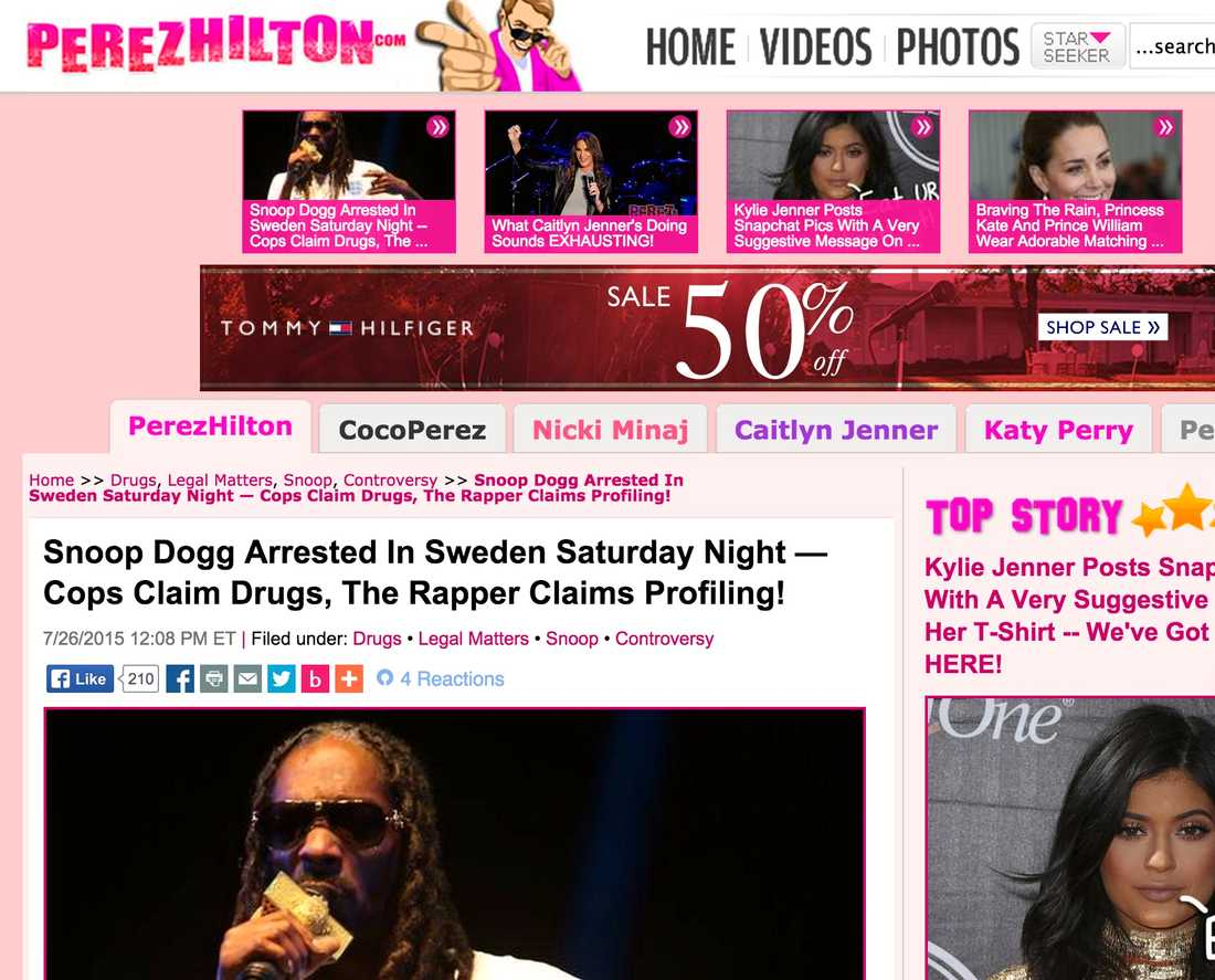 Perez Hilton Snoop Dogg Arrested In Sweden Saturday Night — Cops Claim Drugs, The Rapper Claims Profiling!