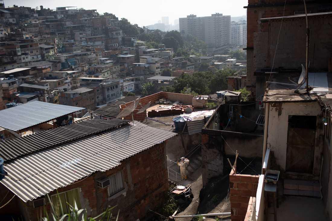 Milisgrupper har tagit kontrollen över flera fattiga områden i Rio de Janeiro i Brasilien. Arkivbild.