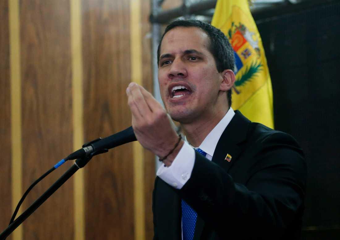 Venezuelas oppositionsledare Juan Guaidó