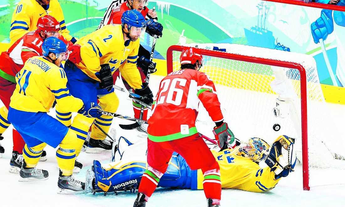 Vitryssland höll på att skrälla igen mot Sverige.