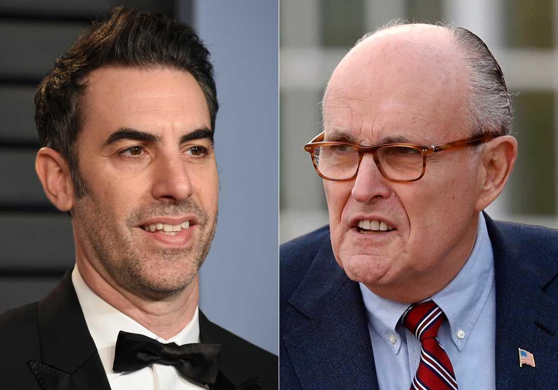Sacha Baron Cohen och Rudy Giuliani
