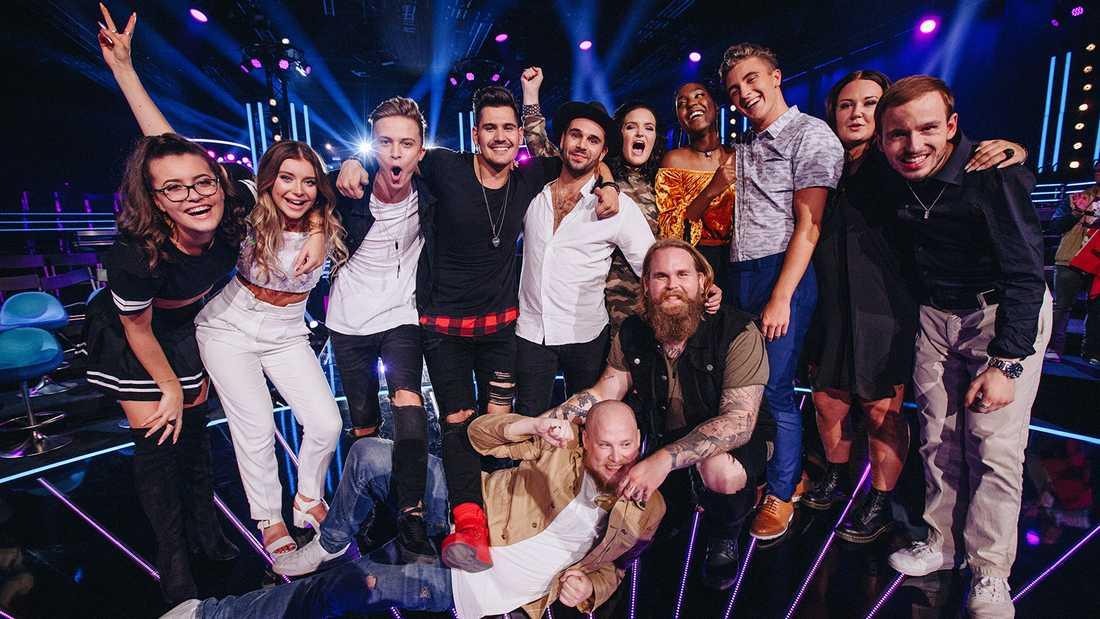 """De tolv finalisterna i """"Idol"""" 2017."""
