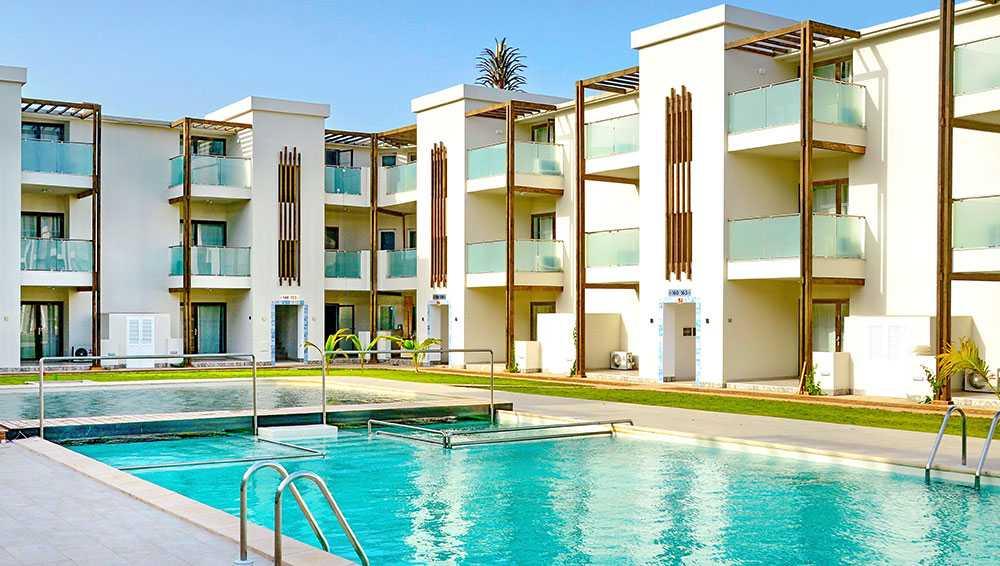 Halos Casa Resort är ett lägenhetshotell som ligger nära Santa Marias centrum.