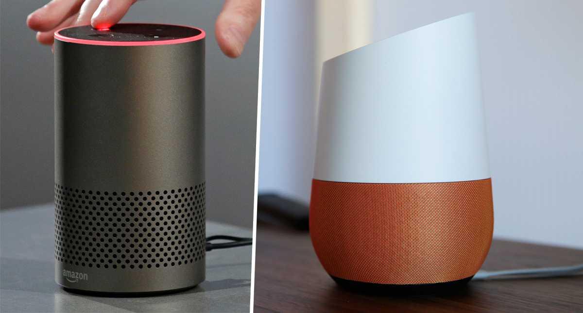 Amazon Echo och Google Home är smarta högtalare.